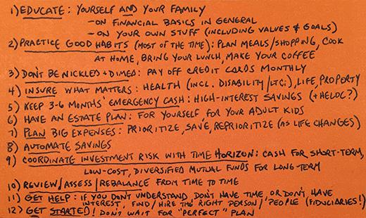David Index card
