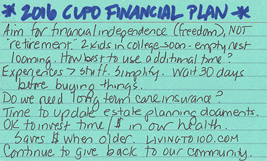 sheri financial index card