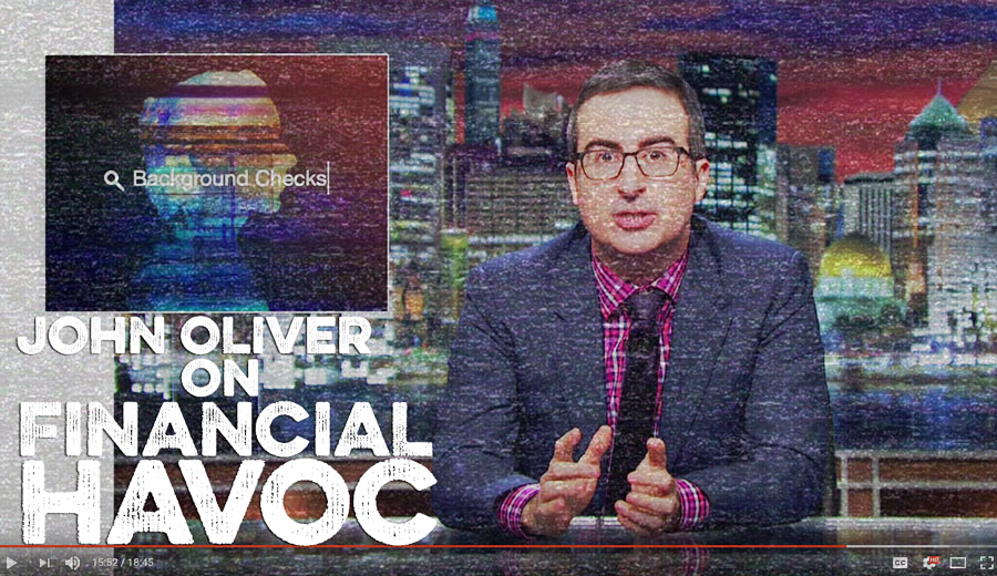 John Oliver Financial Havoc