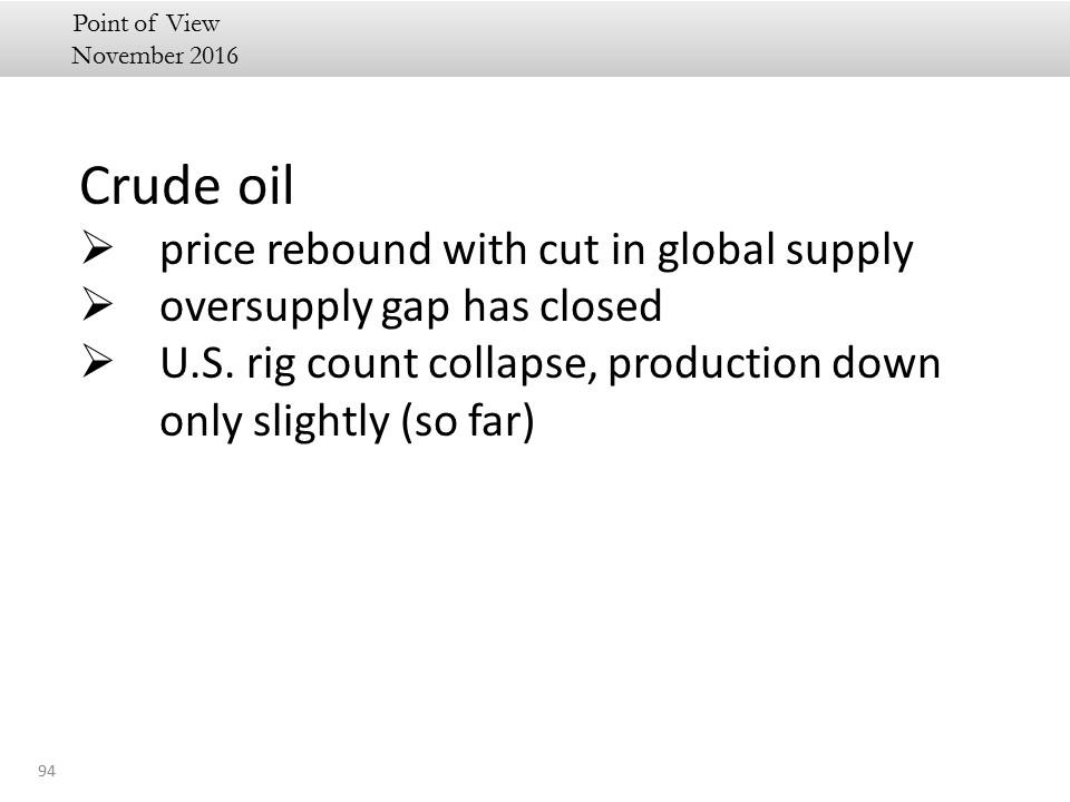 crude oil summary