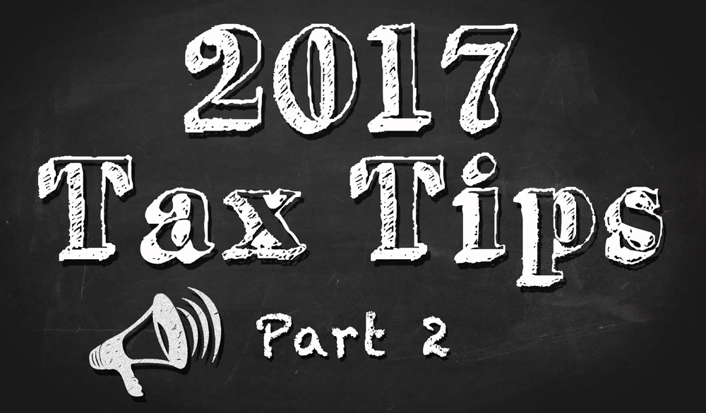 Tax Tips Part 2