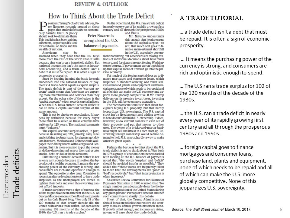 how to think about trade deficits